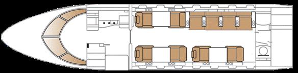 Challenger 605 Layout